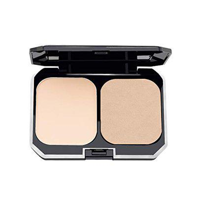 GlamGals 2 in 1 Two Way Cake Compact Makeup + Foundation SPF 15,10g (Brown)