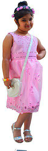 CAMEY Girls Frock (5-6 Years) Pink