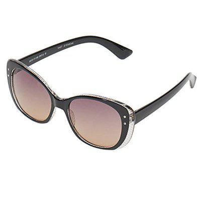 Vast UV Protection Cat Eye Women Sunglasses (9919) (Black Grey)