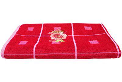 Space Fly Love Touch Attractive Embroidery, Good Look Cotton & Soft 2 Bath Towels (Size : 27 X 56 Inch) (Red)