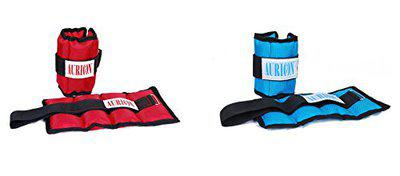 Aurion ankle-2R-1B Polyester Wrist/Ankle Weight (Combo of 2), 6 Kg (Multicolour)