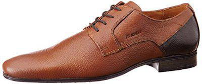 Ruosh Men's Aircube Tan/Light Brown Leather Formal Shoes/India (44 EU) (1101154570_10)