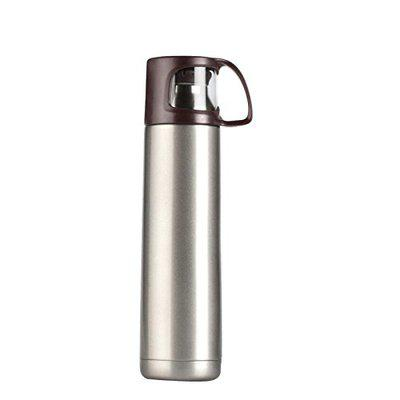 VACUUMIZED TRAVEL FLASK (500 ML) BROWN