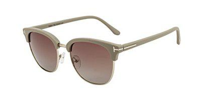 TED SMITH Gradient Square Women's Sunglasses - (TS-Y9934/S_T46|53|Brown Color Lens)
