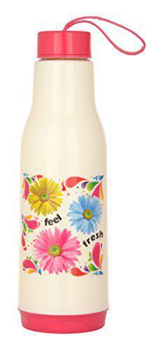 Rishabh Plastic Insulated Water Bottle, 600 ml, Pink