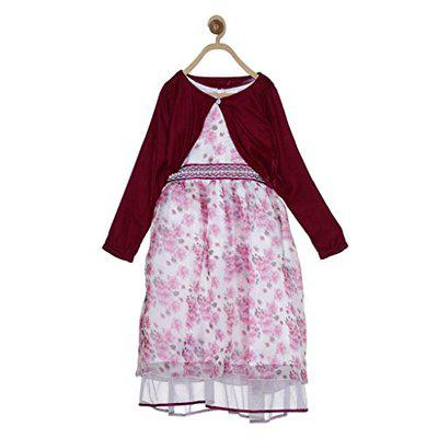 612 League Girls' Dress (ILW17I52024_Wine_5-6 Years)