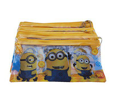Asera 12 Pcs Kids Plastic Pencil Pouch for Birthday return Gifts -Minions Design