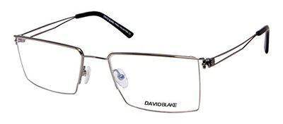 David Blake Semi-Rimless Rectangular Unisex Spectacle Frame - LCEWDB967AZIZ90199J-C3 54 mm