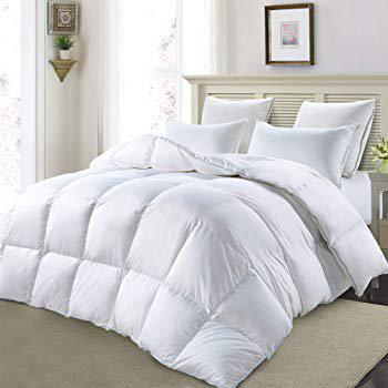 AVI Soft Micro Polyester AC Quilt 200 GSM Double Bed Comforter Blanket Duvet for Summers-90x100 - White