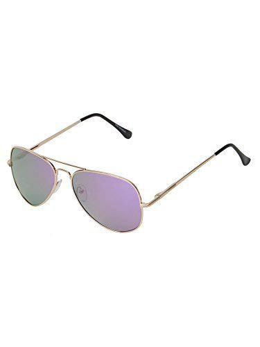 Vast Polar Vision Polarized Aviator Unisex Sunglasses (Polo5025 Gold 59 Mirror)