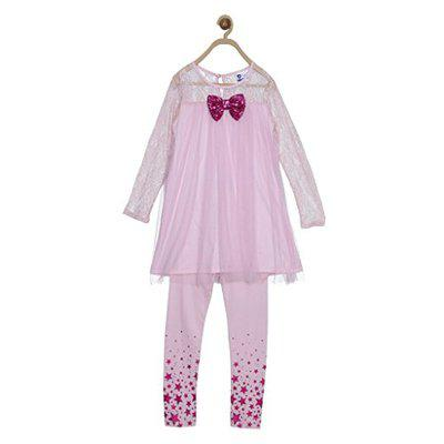 612 League Girls' Dress (ILW17I52004_Lt Pink_3-4 Years)