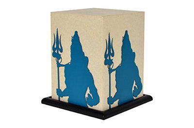 Shady Ideas Shiva Nilkanth LED Table Lamp (Bulb Included) - OffWhite 5x5x8 inches