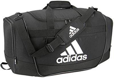 adidas Defender III Large Duffel Bag, Black/White, One Size