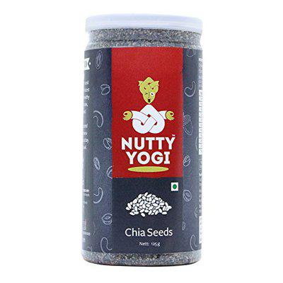 Nutty Yogi Chia Seeds 125 gm,Powerful Superfood,Good for Cholesterol,Heart Friendly,Good in Diabetes,Helps in Weight Loss.Rich Source of Omega-3 Fatty acids