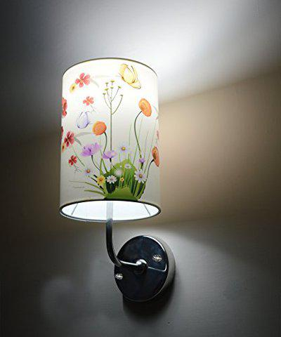 Light Angle Handmade Colorful Crafted Floral Scented Wall Lamp (White)