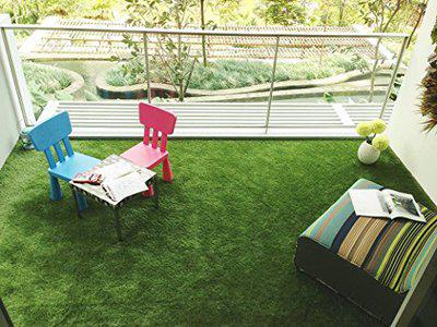 Premium High Density Authentic Artificial Grass For Balcony Garden or Doormat, Soft and Durable Plastic Turf Carpet Mat with easy installation and easy to maintain, Artificial Grass by Griiham 35 mm 6.5* 7 feet