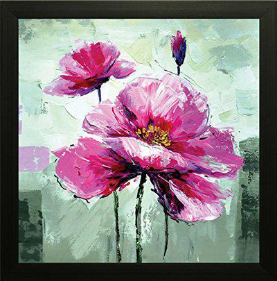 SAF flower Painting || Floral painting || Flower poster || Flower wall stickers || SAF exclusive Framed Wall Art Paintings for Living room and Bedroom. Frame size (12 inch x 12 inch, (Wood, 30 cm x 3 cm x 30 cm, Special Effect Textured) SANF6184X