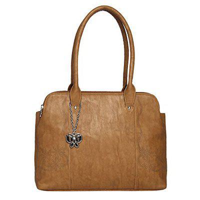 Butterflies Women's Handbag (Tan) (BNS 0638TN)