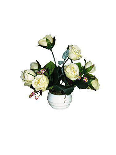 Loxia White Artificial Flower with Pot
