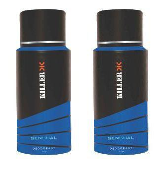 KILLER Sensual Deodorant 150ML Each (Pack of 2)