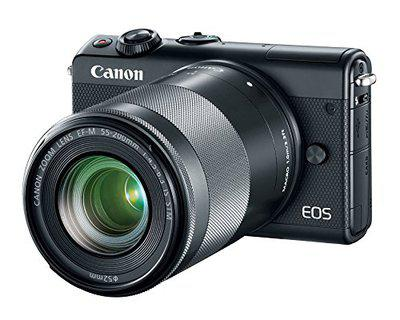 Canon EOS M100 Mirrorless Camera with 15-45 mm and 55-200 mm Lens, WiFi, Bluetooth, and NFC Enabled (Black)