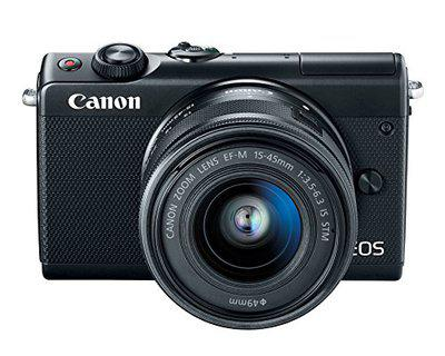 Canon EOS M100 2209C011 Mirrorless Camera w/ 15-45mm Lens - Wi-Fi, Bluetooth and NFC Enabled (Black)