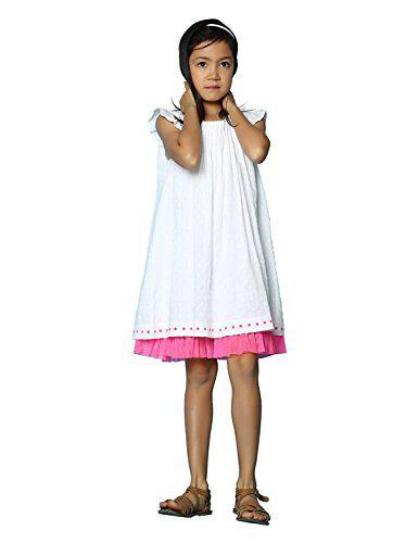 Tiddlywings Cotton Mesh Under Layer Polka Dot Mini Sleeve Dress for 3 Year Toddler Girl