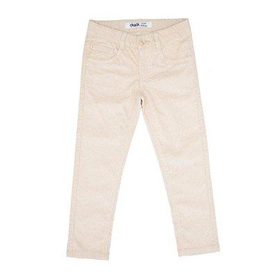 Chalk By Pantaloons Girls' Relaxed Regular Fit Trousers (110032693_Off White_2-3 YRS)