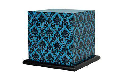 Shady Ideas Paisley Passion Small Table LED Table Lamp (Bulb Included) - Teal
