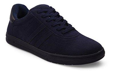 Bacca Bucci Men Blue Synthetic Suede Sneakers
