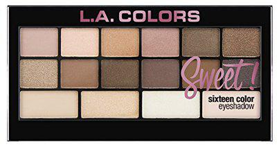 L.A. Colors Sweet 16 Color Eyeshadow Palette, Charming, 20g