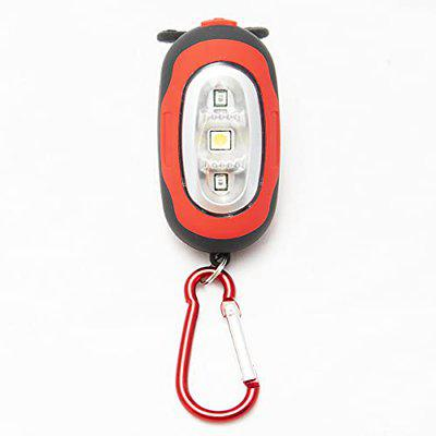 Lista Multipurpose COB Bicycle Tail Light and Key Chain helpfull in Trekking Torch Hiking Camping Key Chain