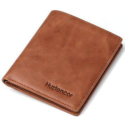 Huztencor Credit Card Holder Wallet Slim Bifold Card Holder Case Leather Card Sleeve Wallet Front Pocket Wallet Minimalist Wallets Money Clip RFID Blocking with Coin Pocket Brown