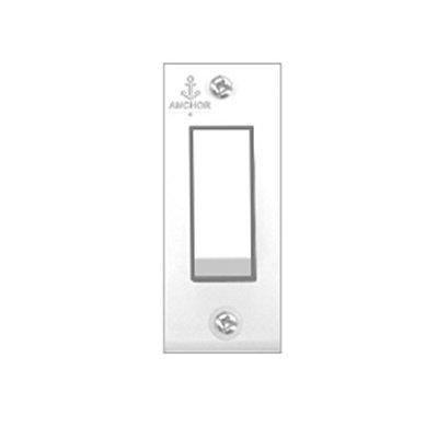 Anchor 6A 1 Way Polycarbonate Switch (White) -30 Pieces