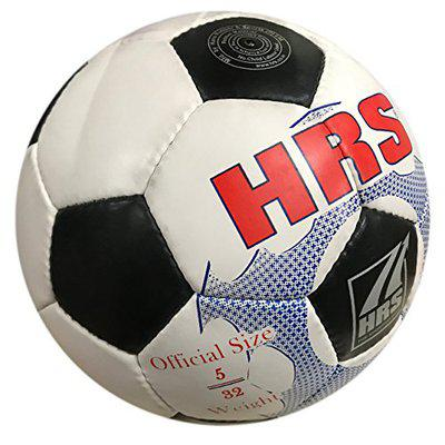 HRS Trainer Synthetic Rubber Football - (Black/White) Size 5