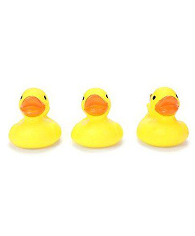 Ratna's squeezy toys duck 3 pcs pack for infants. The sweet musical sound of the squeezy toy makes kids happy and makes their childhood fun filled
