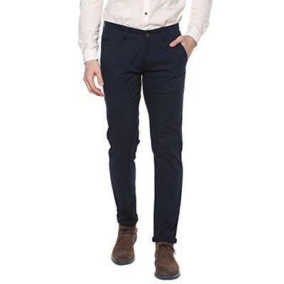 Urbano Fashion Men's Navy Blue Slim Fit Stretchable Casual Chinos (chino-navy-34-01)