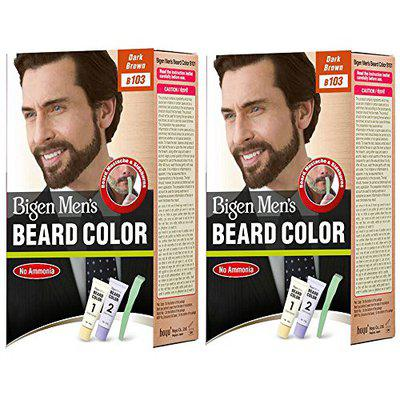 Bigen Men's Beard Color, Dark Brown B103 (20g+20g) (Pack Of 2)