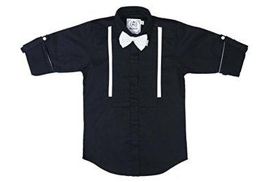 MashUp Boys Solid Party Black Shirt(Pack of 2)