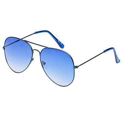 Vast Uv Protected Gradient Aviator Unisex Sunglasses (Vsc_3025_Blue_Blue 52 Mm Blue)
