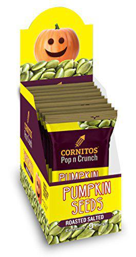 Cornitos Roasted Salted Pumpkin Seeds, 30g (Pack of 9)