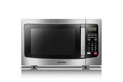 Toshiba EM131A5C-SS Solo Microwave with Sensor Cooking Function, 1.2 Cu.ft, Stainless Steel