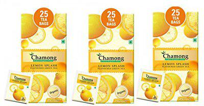 Chamong Darjeeling Lemon Green Tea Relieves Stress for Good Health and Helps in Weight Loss (Pack of 3)
