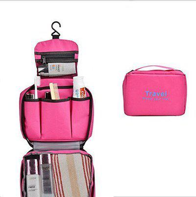 Lemish Travel Your Life Toiletry Travel Zipper Hanging Bag, Travel Cosmetic Organizer Toiletry Bag-Multi Color
