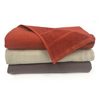 Core Designed by Spaces Solid 3 Piece 250 GSM Cotton Bath Towel Set - Rust, Chocolate and Beige