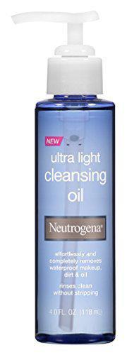 Neutrogena Ultra-Light Cleansing Oil 4 oz (Pack of 3)
