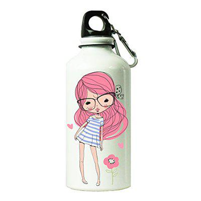 Shopbuzz Sweet Pink Girl Sipper Water Bottle for Office, Gym, School, Travel, | Sipper for Kids & Adults