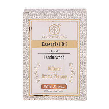 Khadi Natural Sandalwood Oil Diffuser & Aroma Therapy (10 Ml)