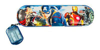 RIANZ Cartoon Character Pencil Box with Sharpener Pencil Case Pencil Pouch Birthday Gift for Kids, Color May Vary (Avenger)