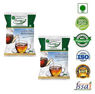 Pure Agro Green Tea - 100 Grams Pack of 2